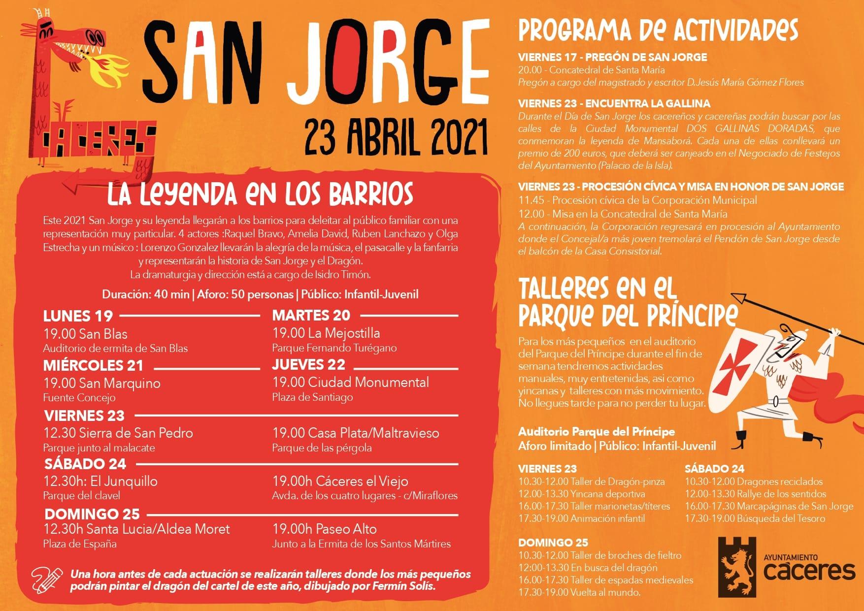 San Jorge 2021 La Leyenda en los Barrios