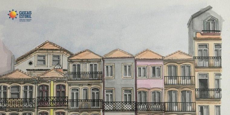 Um Olhar Arquitetónico   Pintura a aguarela de Sílvia Correia Barbosa