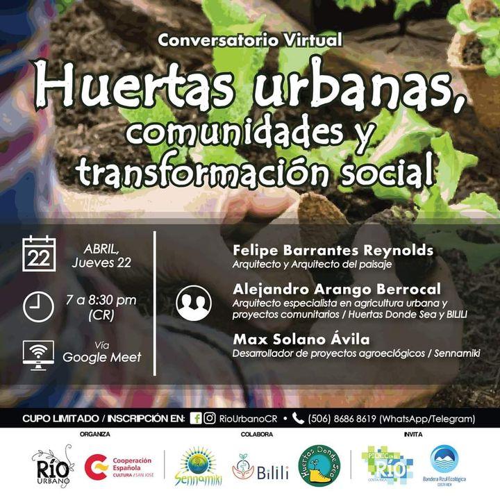 """Conversatorio: """"Huertas urbanas, comunidades y transformación social"""""""