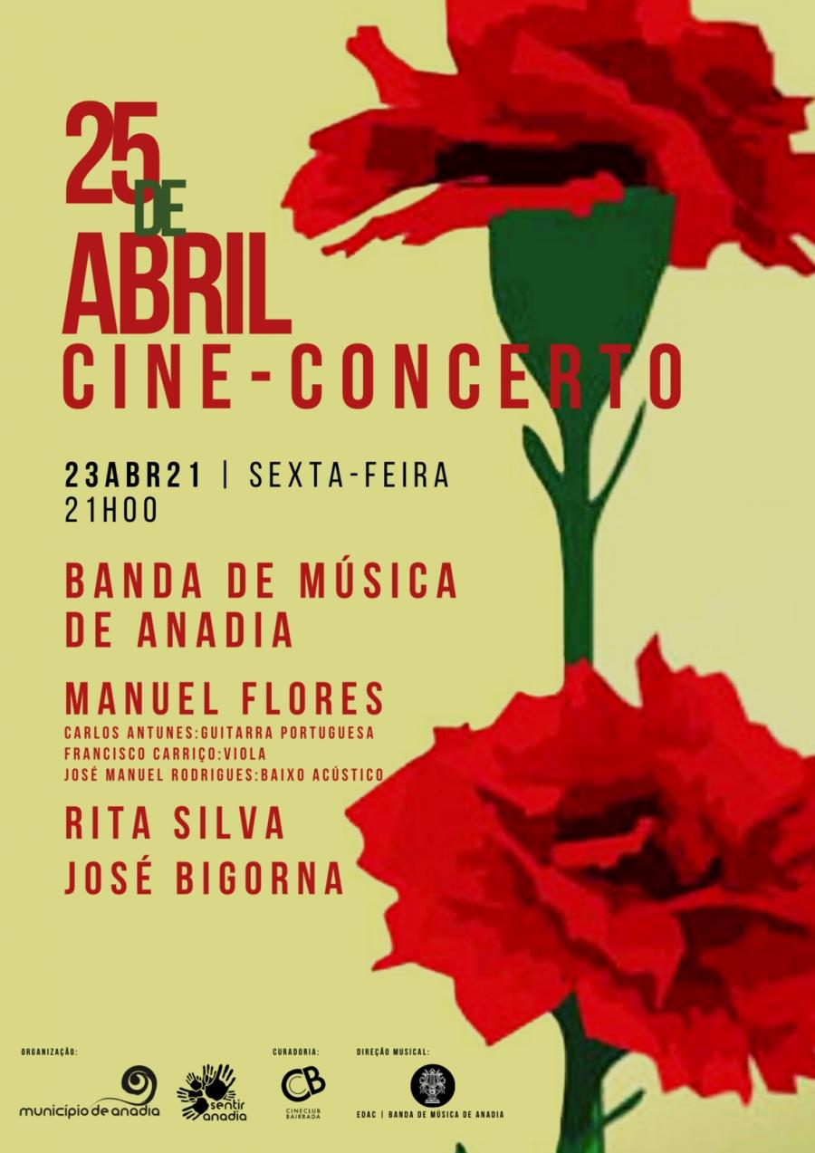 Cineconcerto - Comemorações do 25 de abril