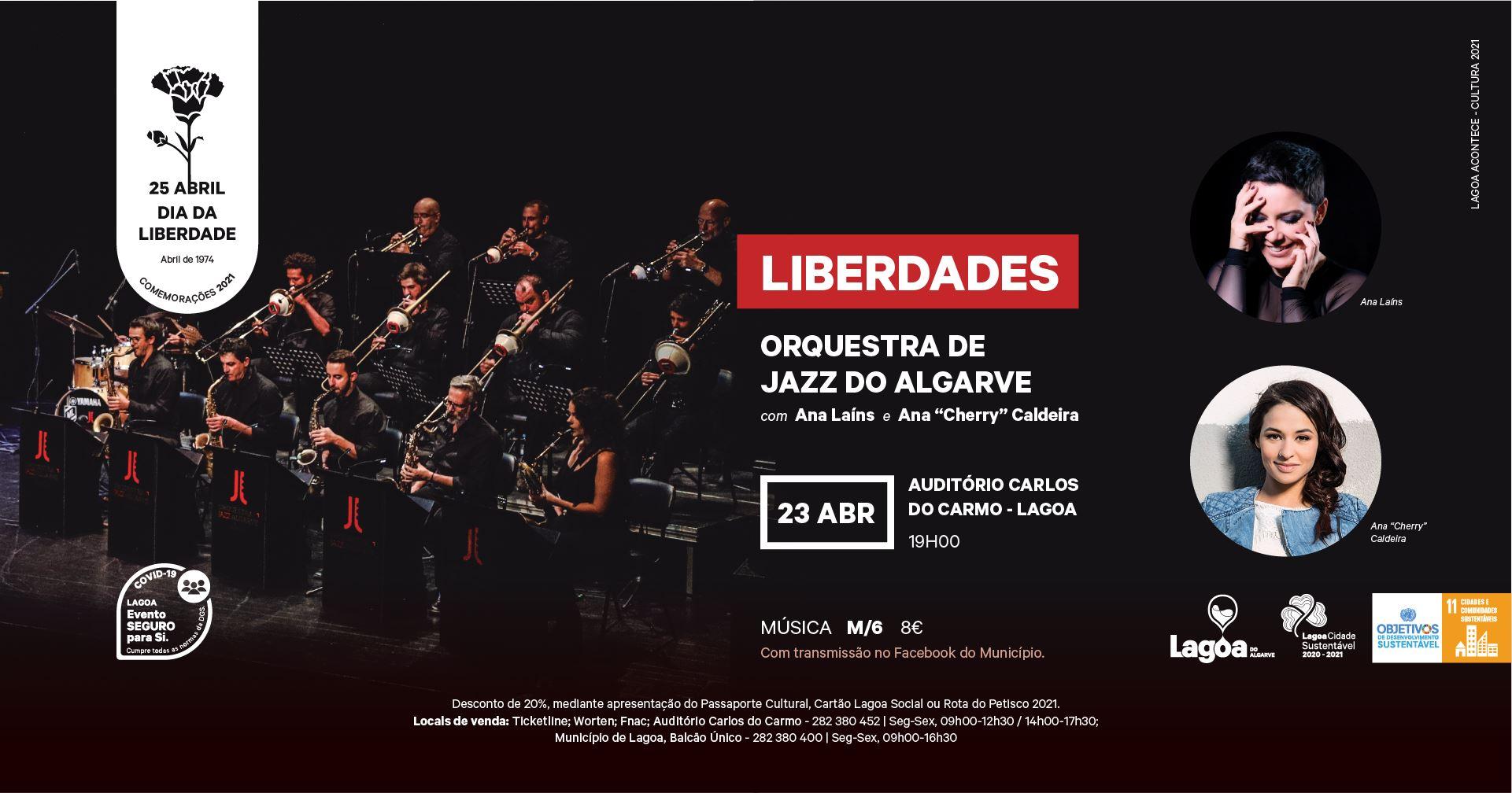 """Concerto """"Liberdades"""" pela Orquestra de Jazz do Algarve."""