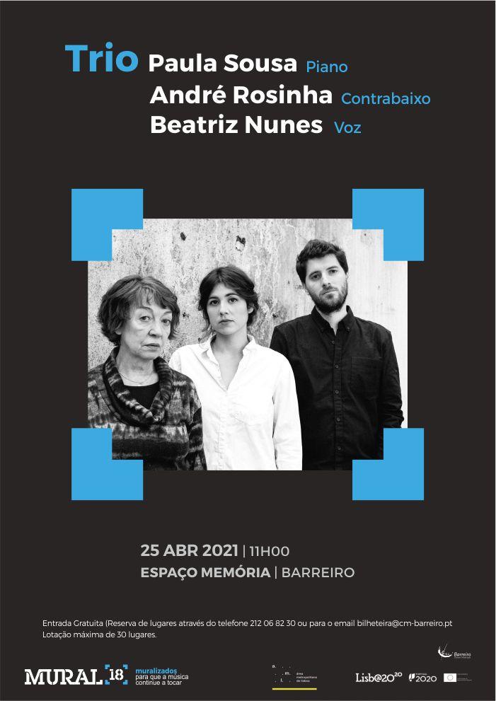 Trio Paula Sousa, André Rosinha e Beatriz Nunes   Concerto Programação em Rede MURAL 18