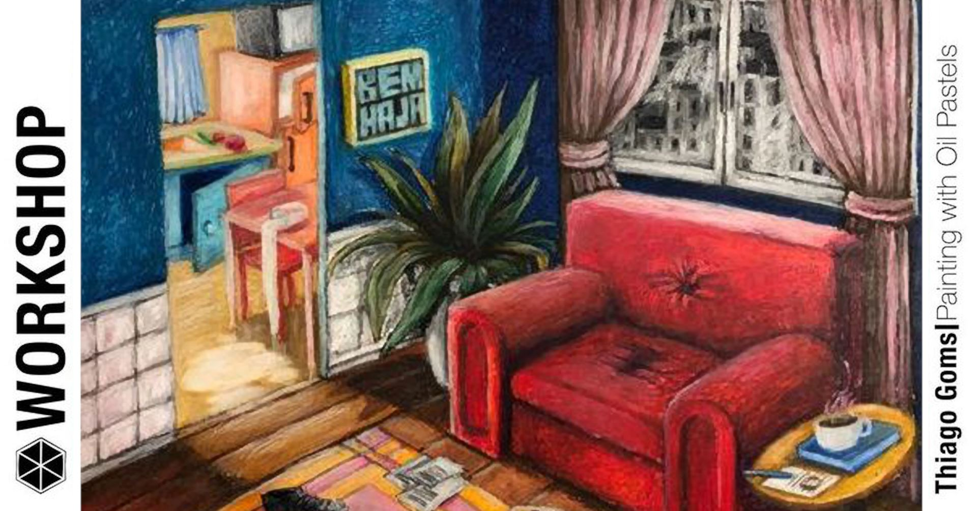 Workshop Pintura - Pastel Oleo com Thiago Goms