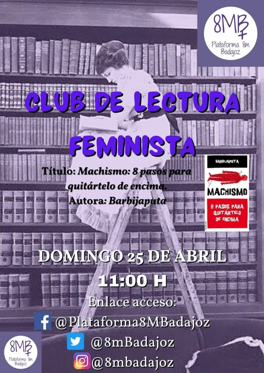 Club de lectura feminista. Plataforma 8M Badajoz.
