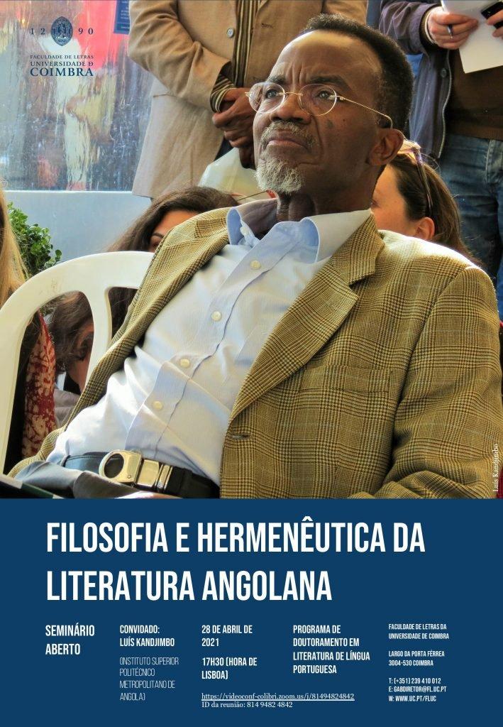 """Seminário Aberto """"Filosofia e Hermenêutica da Literatura Angolana"""""""