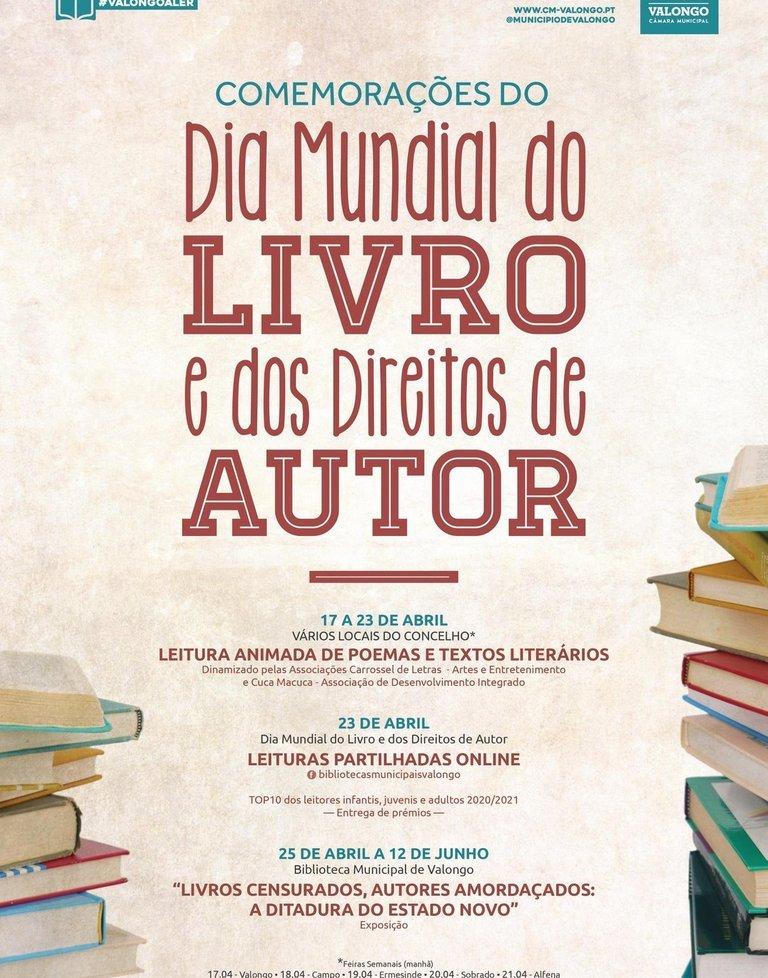 Comemorações do Dia  Mundial do Livro e dos Direitos de Autor