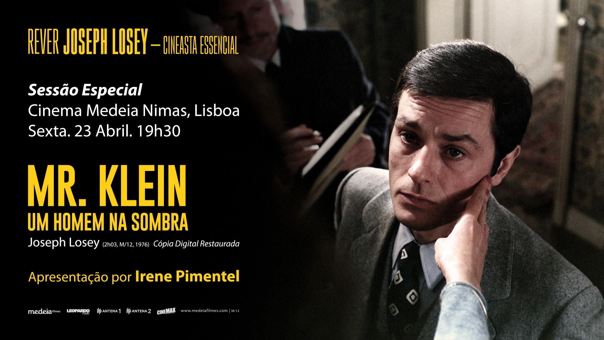 Sessão Especial: MR. KLEIN - UM HOMEM NA SOMBRA, com apresentação de Irene Pimentel | Cinema Nimas