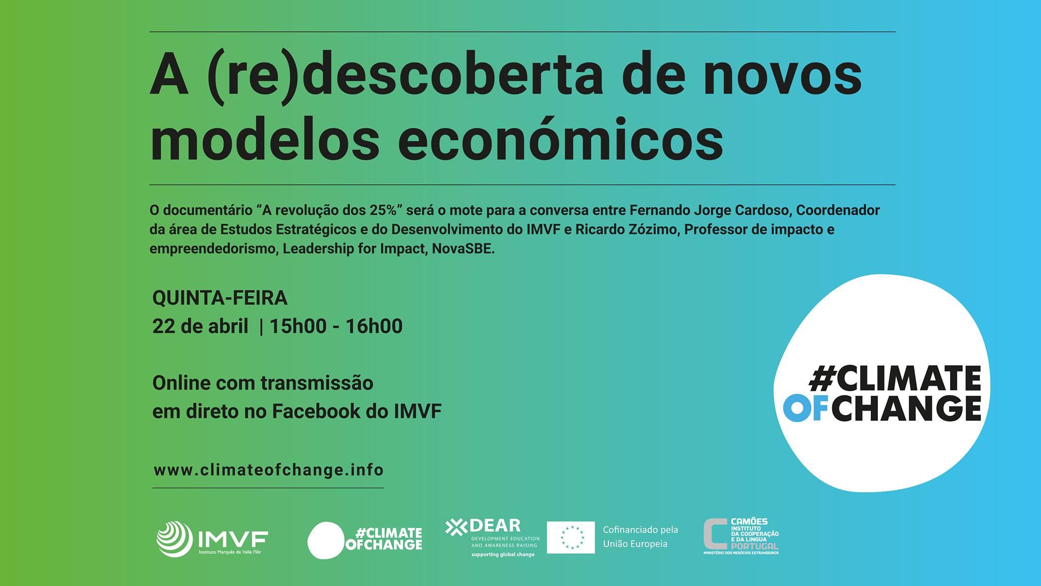 Webinar #ClimateOfChange: A (re)descoberta de novos modelos económicos | Inscrição Obrigatória*