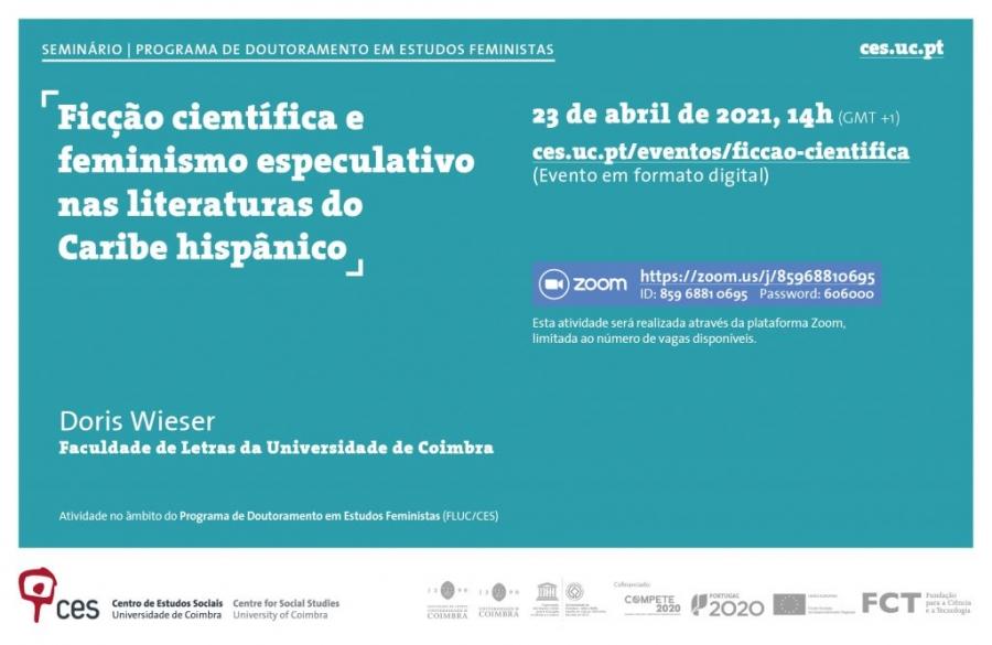 """Seminário """"Ficção científica e feminismo especulativo nas literaturas do Caribe hispânico"""""""