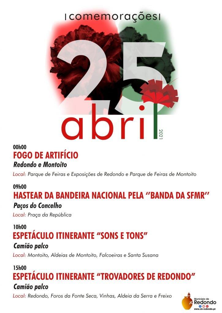 Comemorações do 25 de Abril no Concelho de Redondo