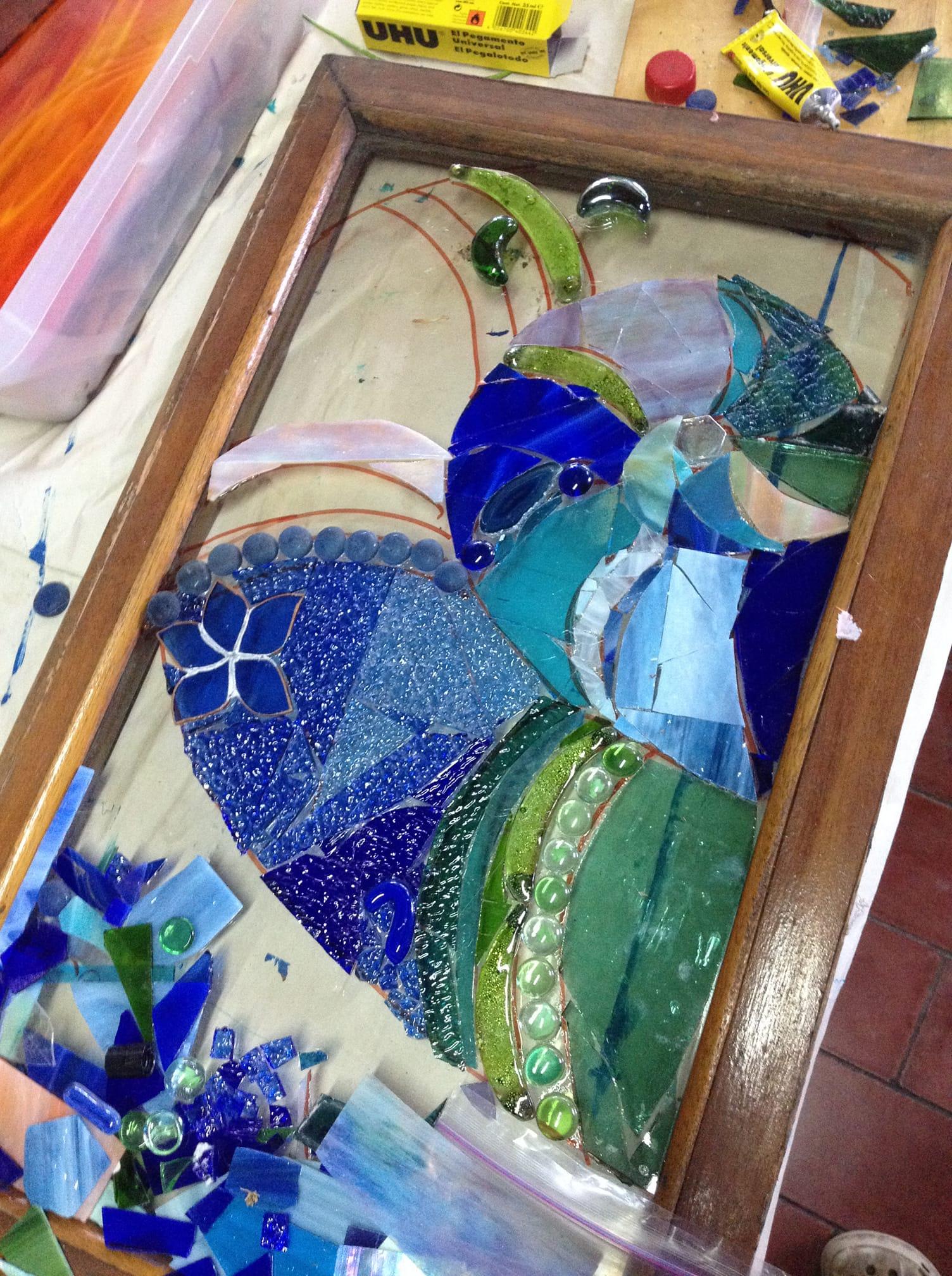 Curso de Mosaico en vidrio