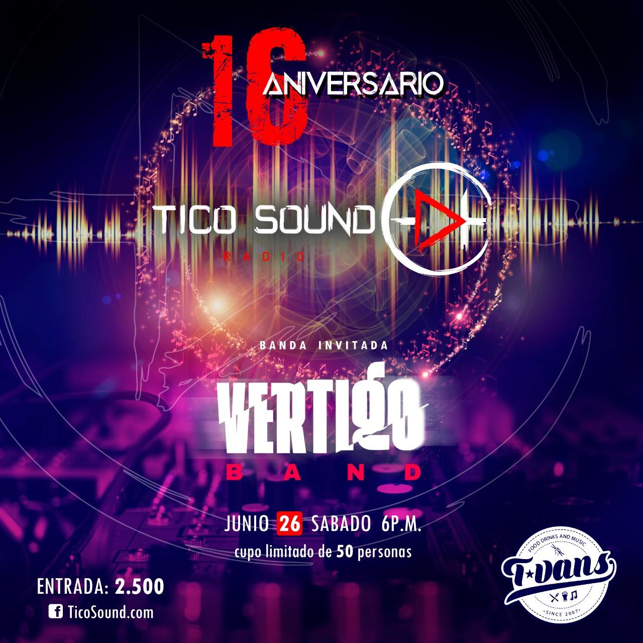 Vertigo Band / Aniversario TicoSound.com
