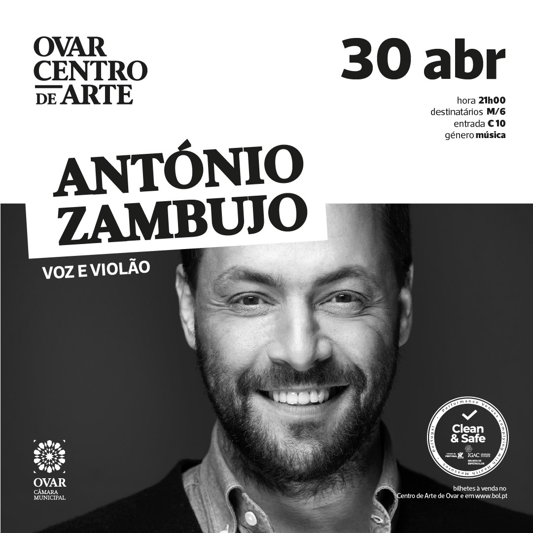 António Zambujo - Ovar (ESGOTADO)