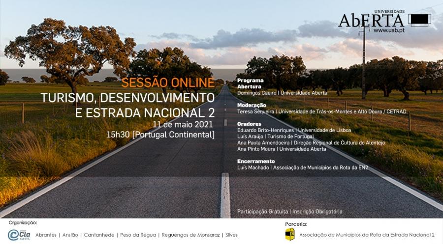 Universidade Aberta   Sessão Online: Turismo, Desenvolvimento e Estrada Nacional 2