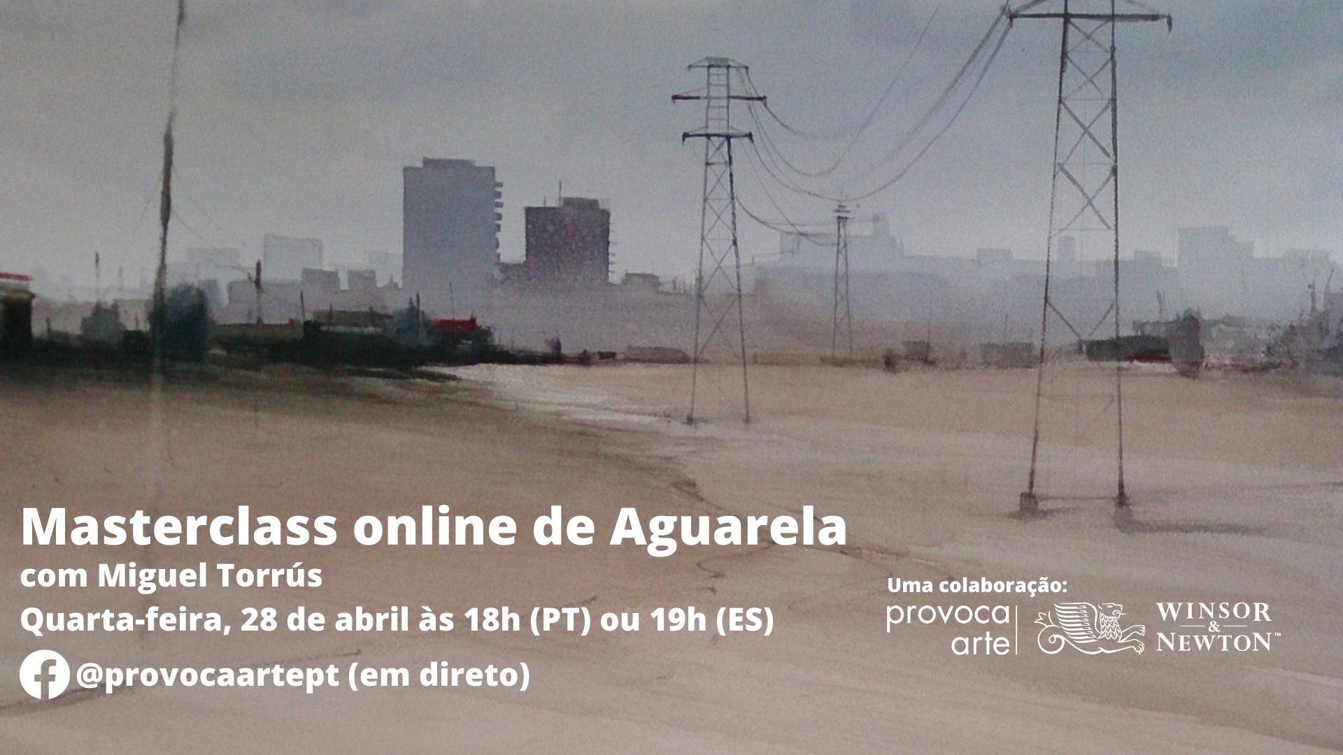 Marterclass de Aguarela com Miguel Torrús online