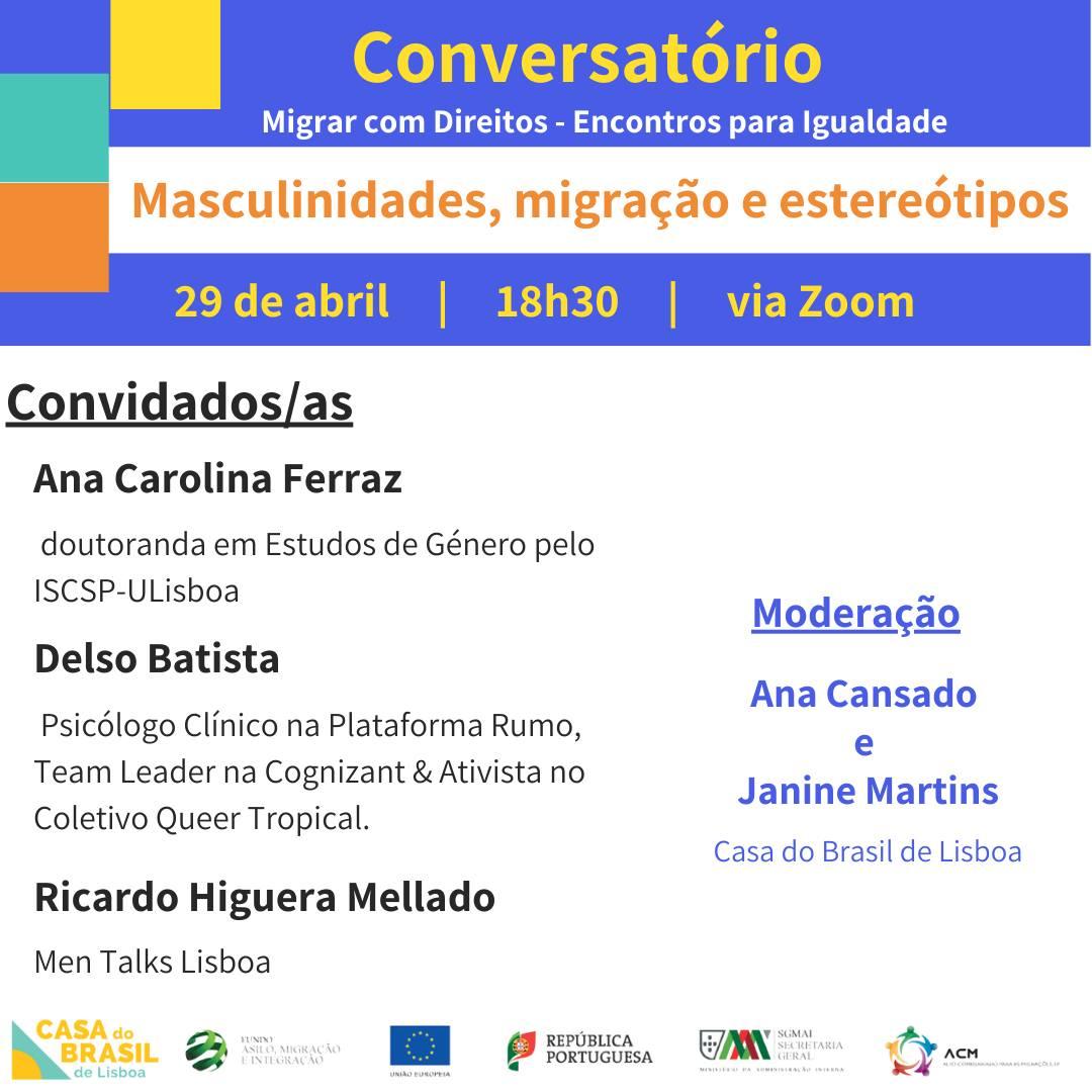 Conversatório: Masculinidades, migração e estereótipos