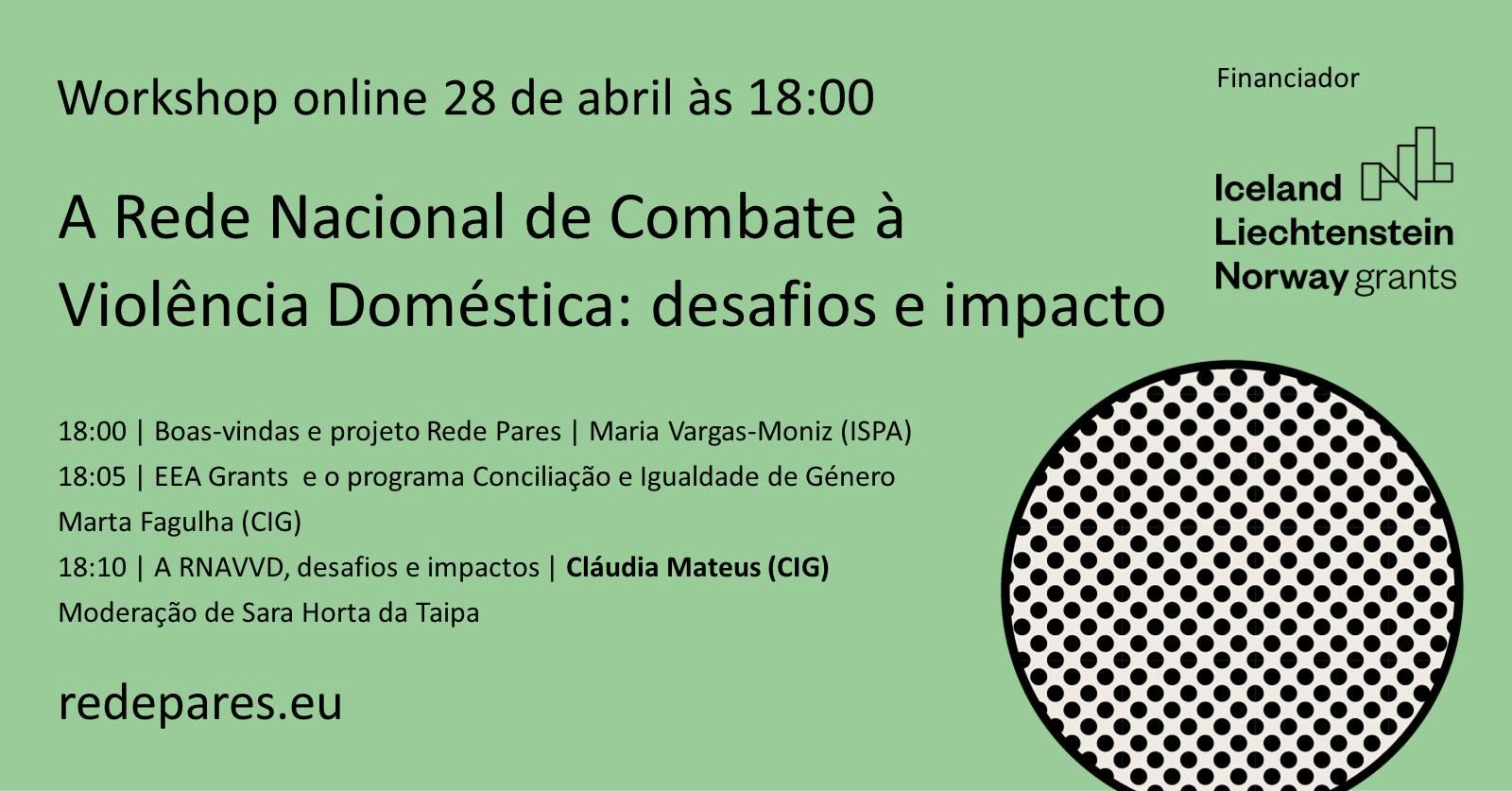 Workshop A Rede Nacional de Apoio às Vítimas de Violência Doméstica: desafios e impacto