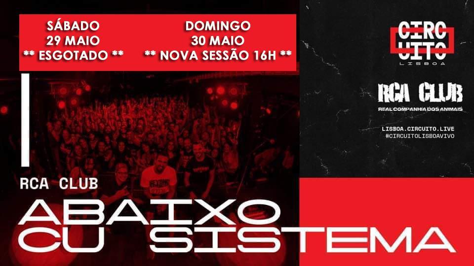 Abaixo Cu Sistema - The SYSTEM OF A DOWN Tribute - 29 e 30 Maio - RCA CLUB