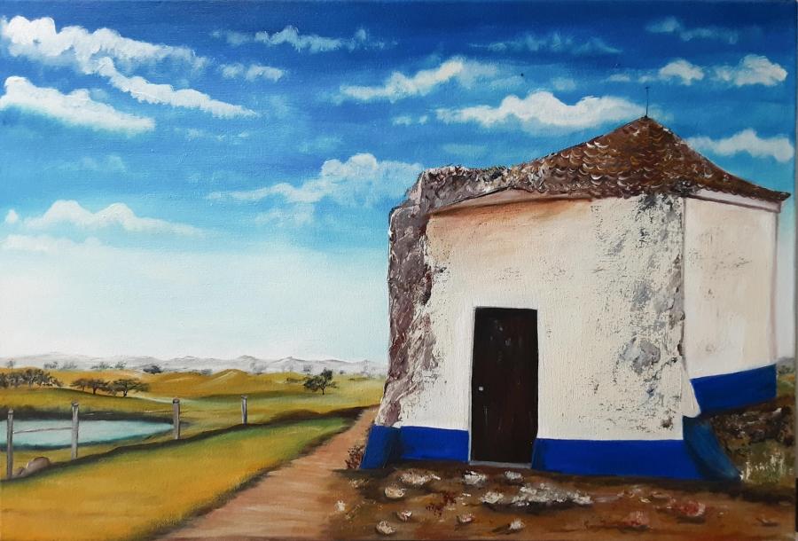 """Exposição de Pintura """"As Cores do Silêncio"""", de Julieta Barreiro"""