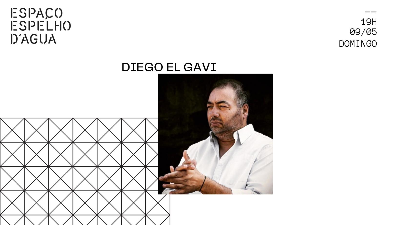 Diego El Gavi no Espaço Espelho D'Água