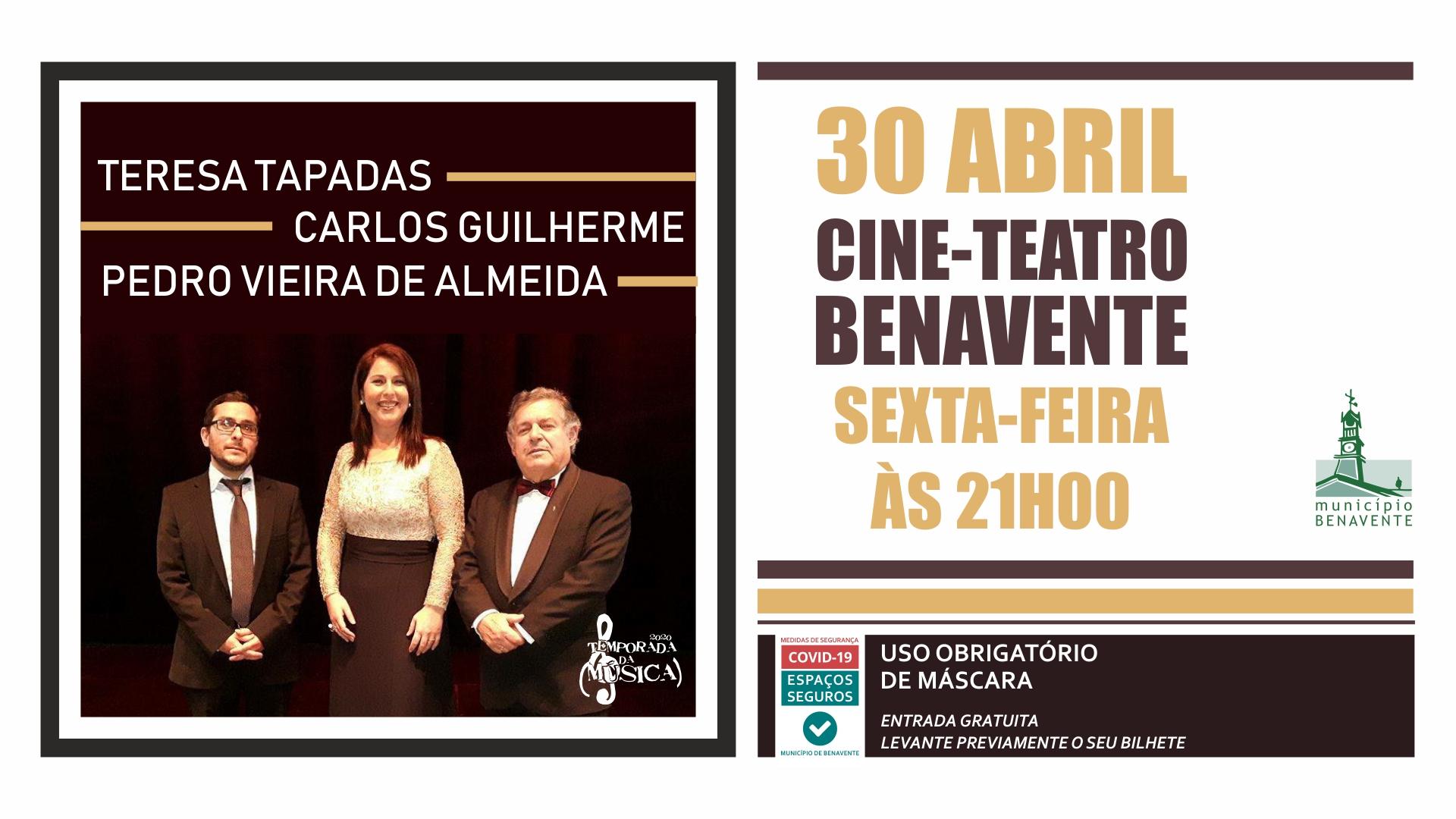 Concerto com Teresa Tapadas, Carlos Guilherme e Pedro Vieira.