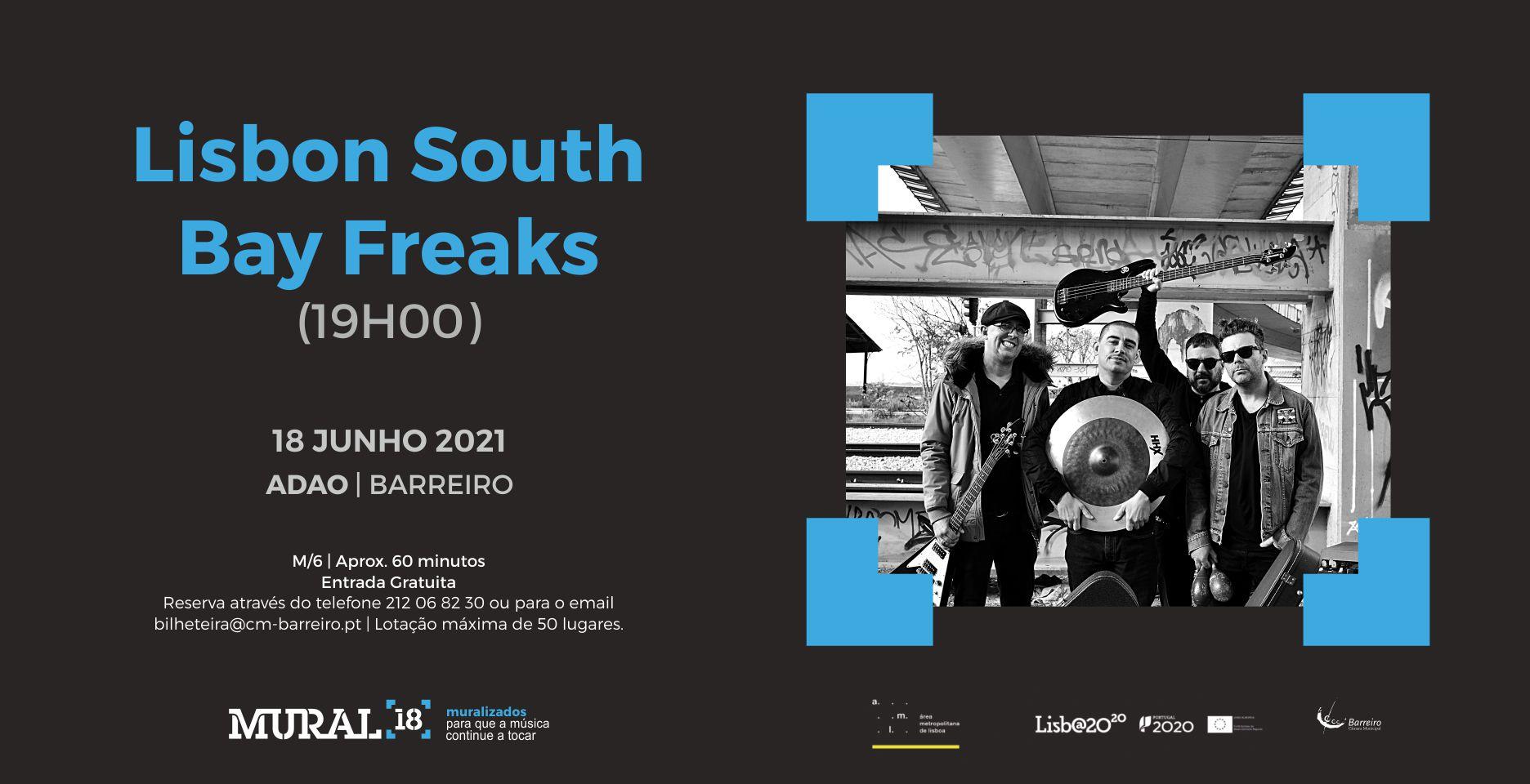Lisbon South Bay Freaks + Monkey Cage   Concerto Programação em Rede MURAL 18