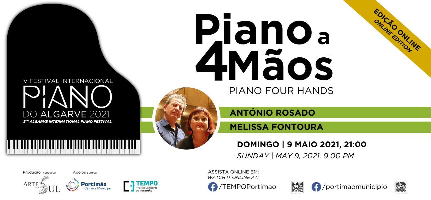 Piano a 4 mãos: António Rosado e Melissa Fontoura