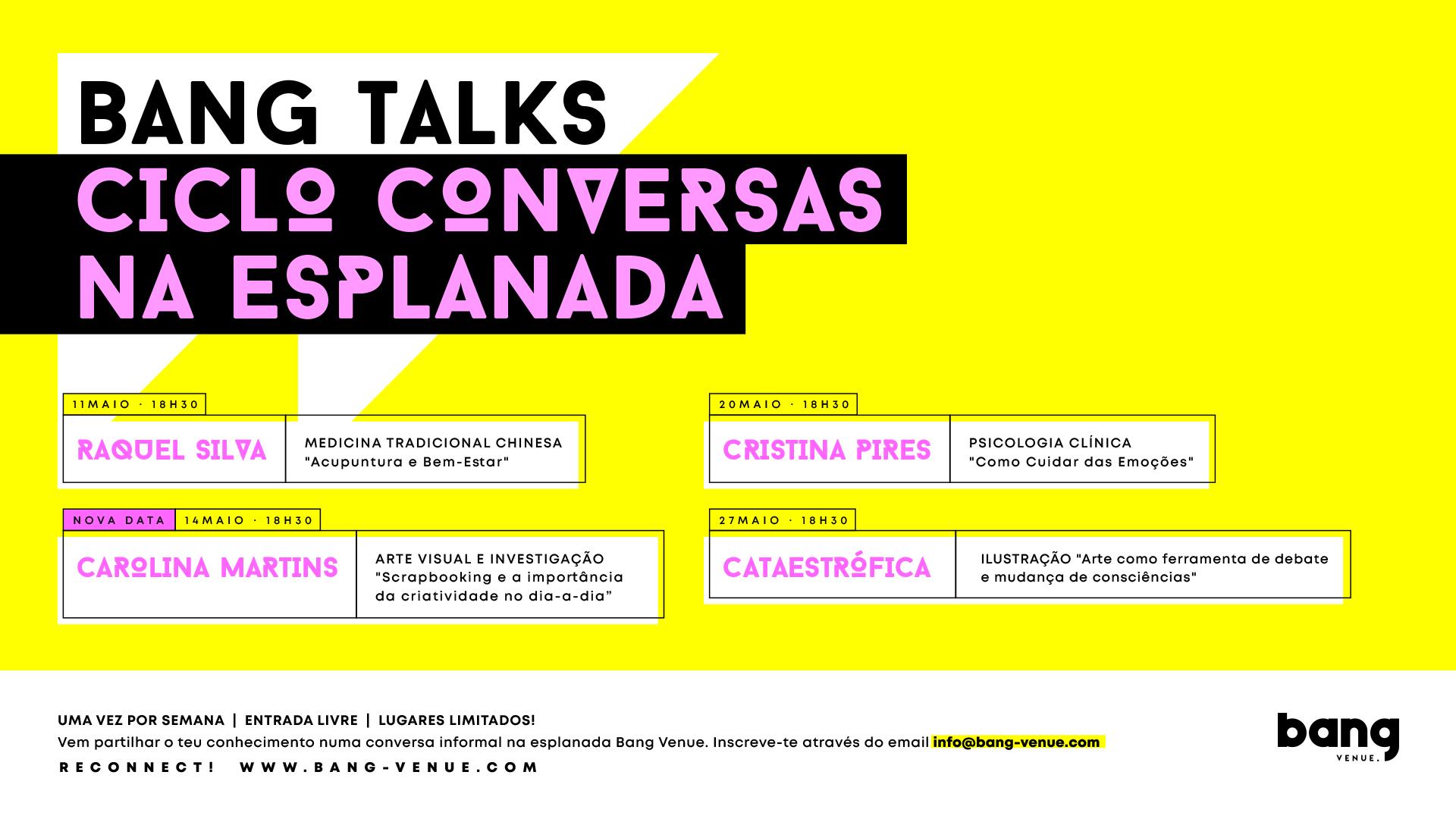 Bang Talks | Ciclo Conversas na Esplanada | Entrada Livre