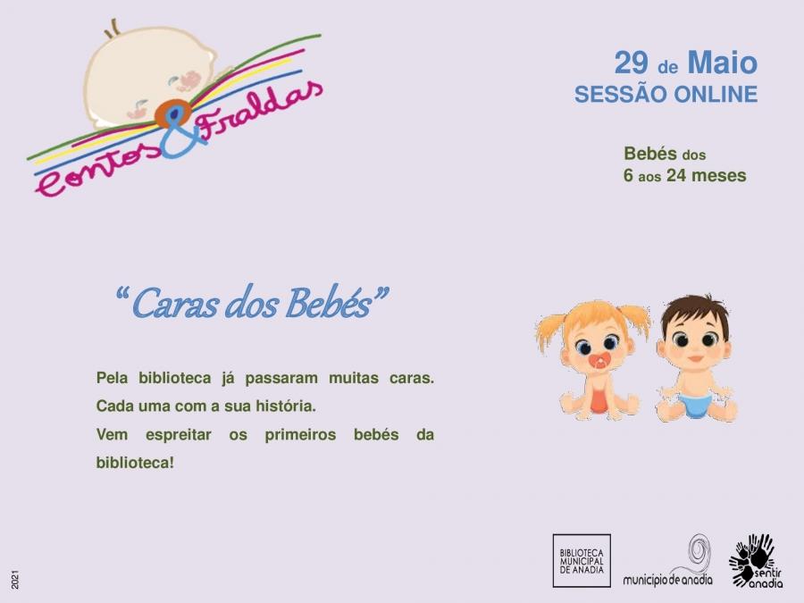"""Contos & Fraldas  - """"Caras dos bebés"""""""" (sessão online)"""