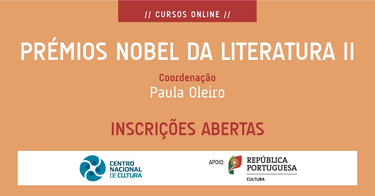 [Curso online] Prémios Nobel da Literatura II