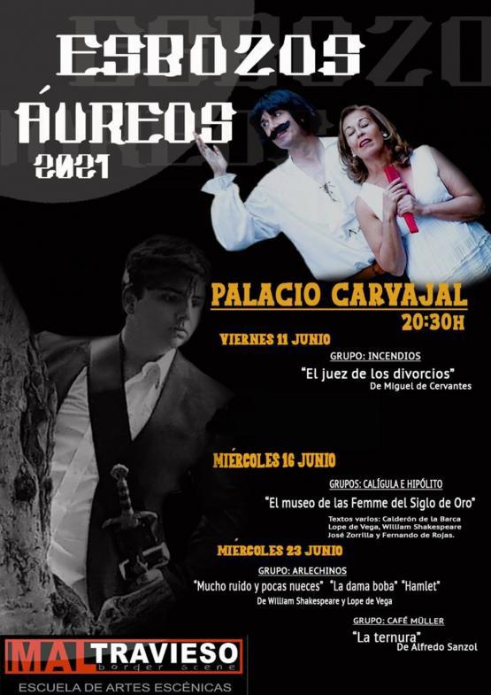 MUCHO RUIDO Y.. /LA DAMA BOBA/HAMLET/ LATERNURA (Esbozos Áureos, Festival Teatro Clásico de Cáceres)