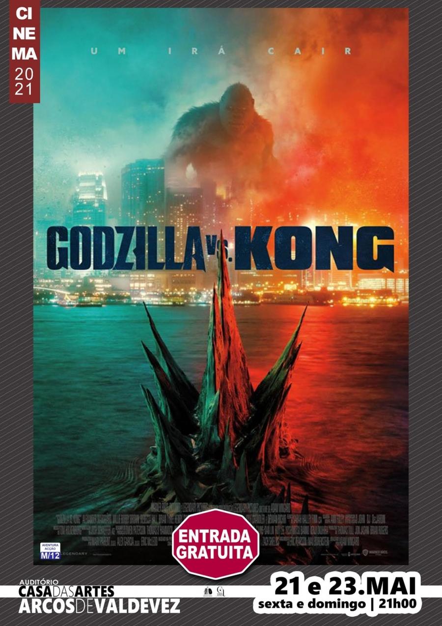 Exibição do filme 'Godzilla vs Kong'