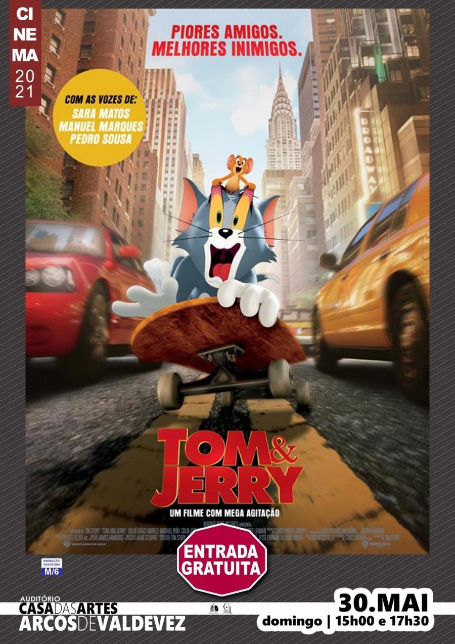 Exibição do filme 'Tom & Jerry'