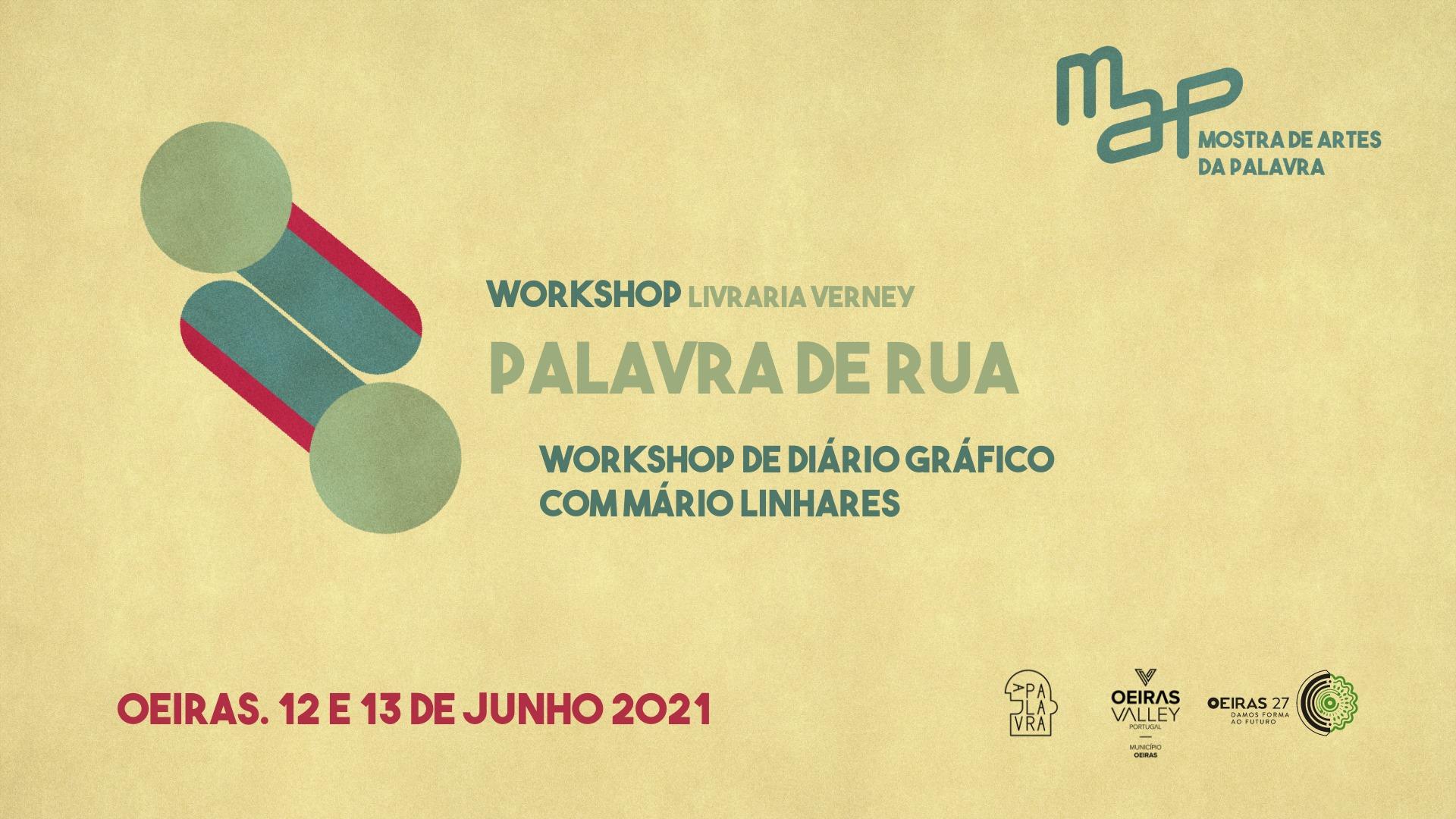 Workshop de Diário Gráfico: Palavra de Rua