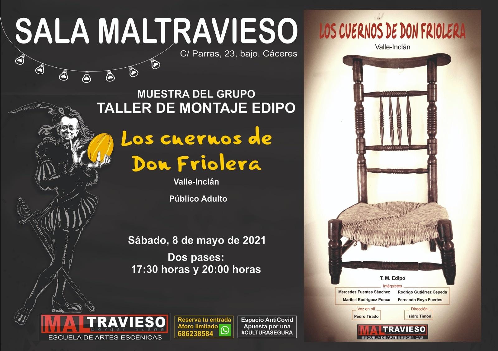 'Los Cuernos de Don Friolera' grupo EDIPO de Maltravieso Teatro