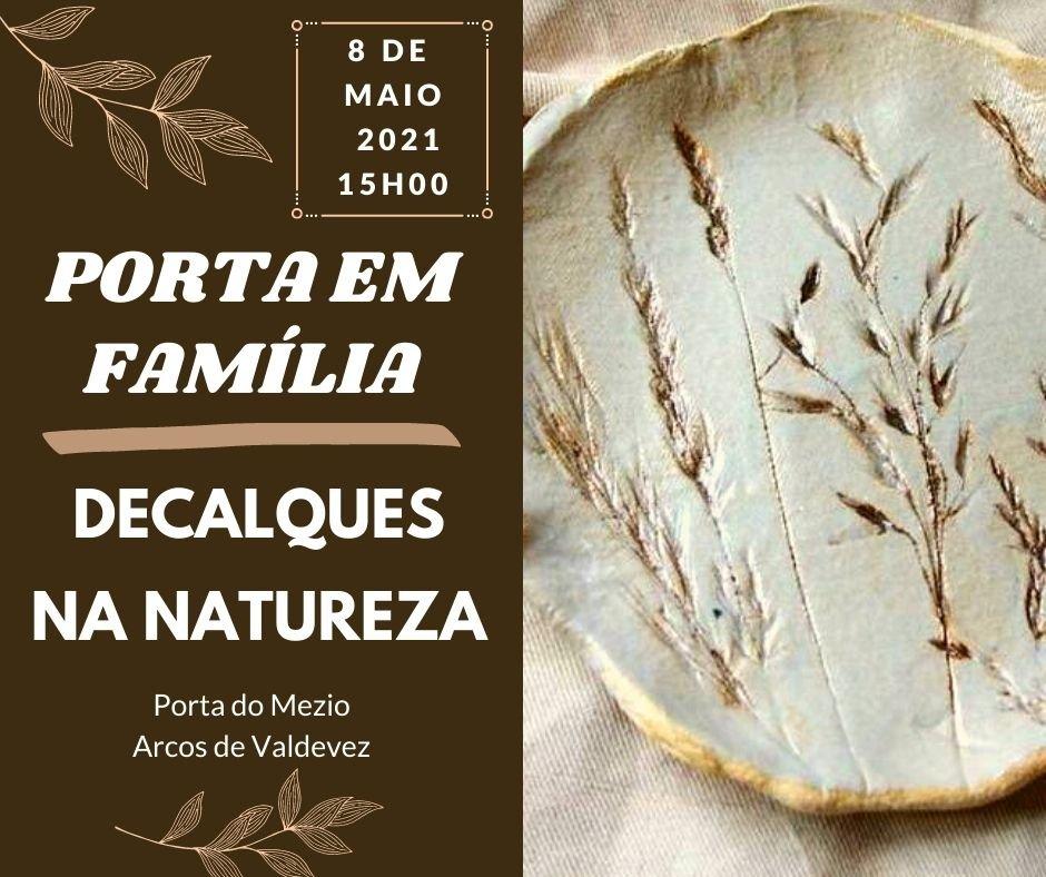 """""""Porta em Família – Decalques na Natureza"""""""