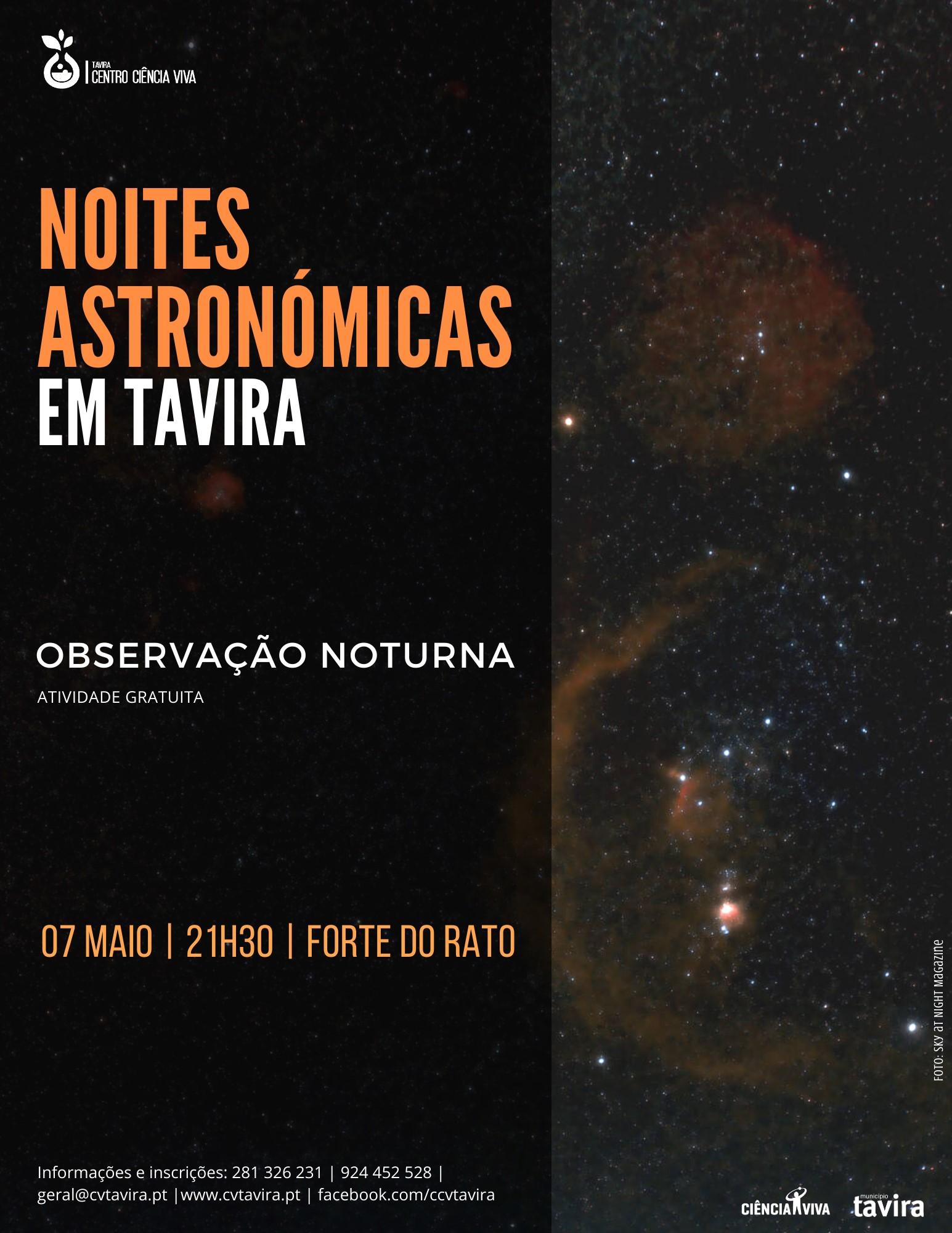 Noites Astronómicas em Tavira - Observação noturna