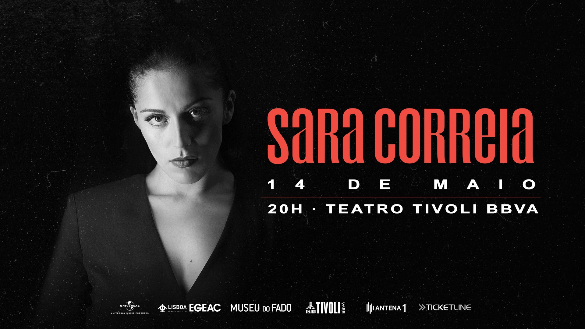 Sara Correia ao vivo no Teatro Tivoli (Lisboa) - 14 Maio