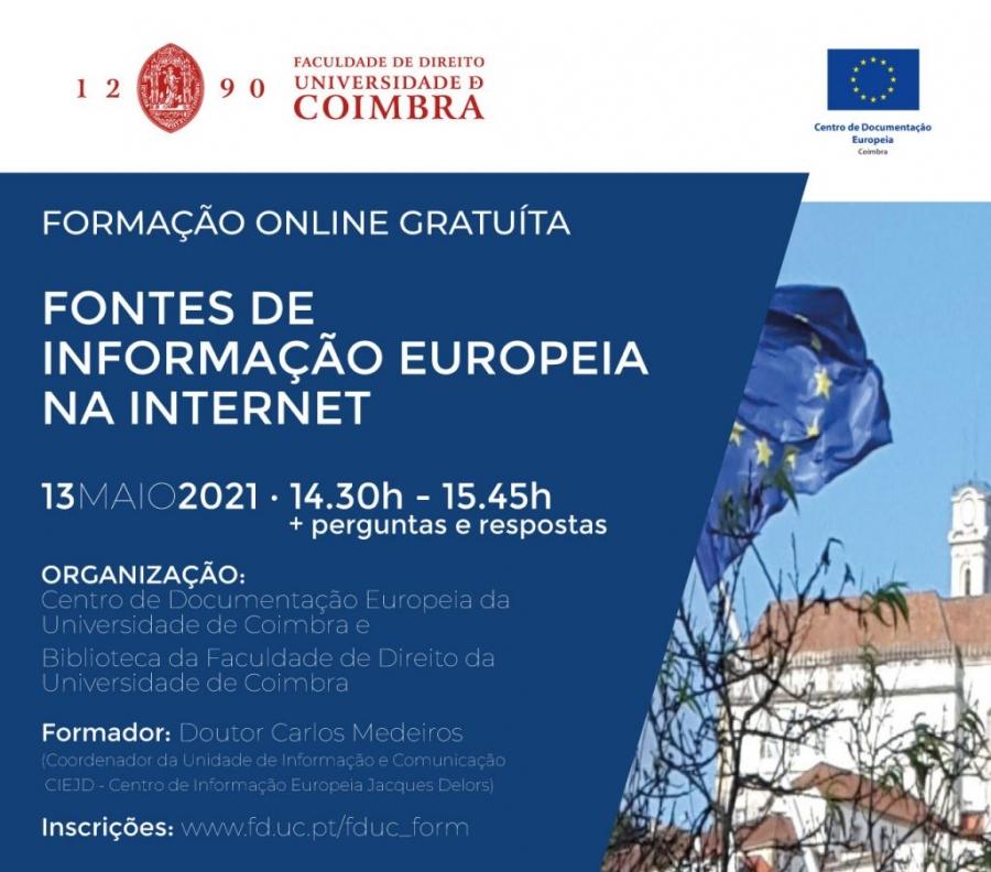 Formação Online Gratuita – Fontes de Informação Europeia na Internet