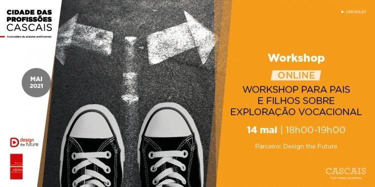 Workshop para pais e filhos sobre exploração vocacional