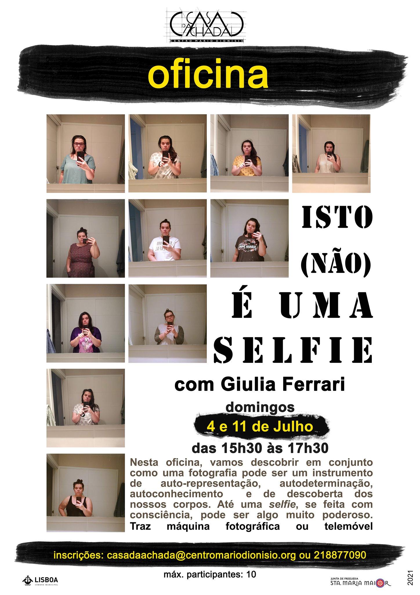 Oficina de fotografia: Isto (não) é uma selfie