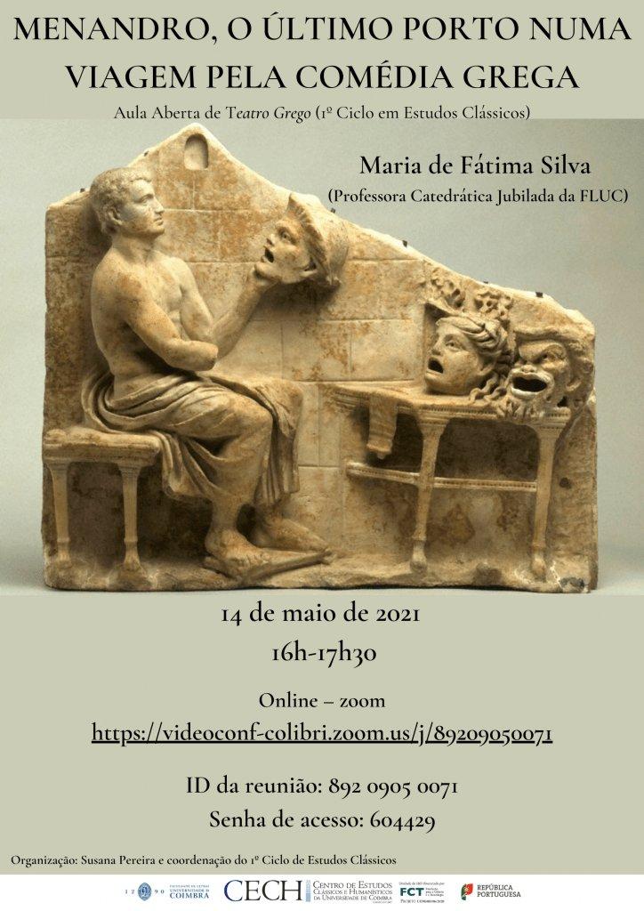 """Aula Aberta """"Menandro, O Último Porto numa Viagem pela Comédia Grega"""""""