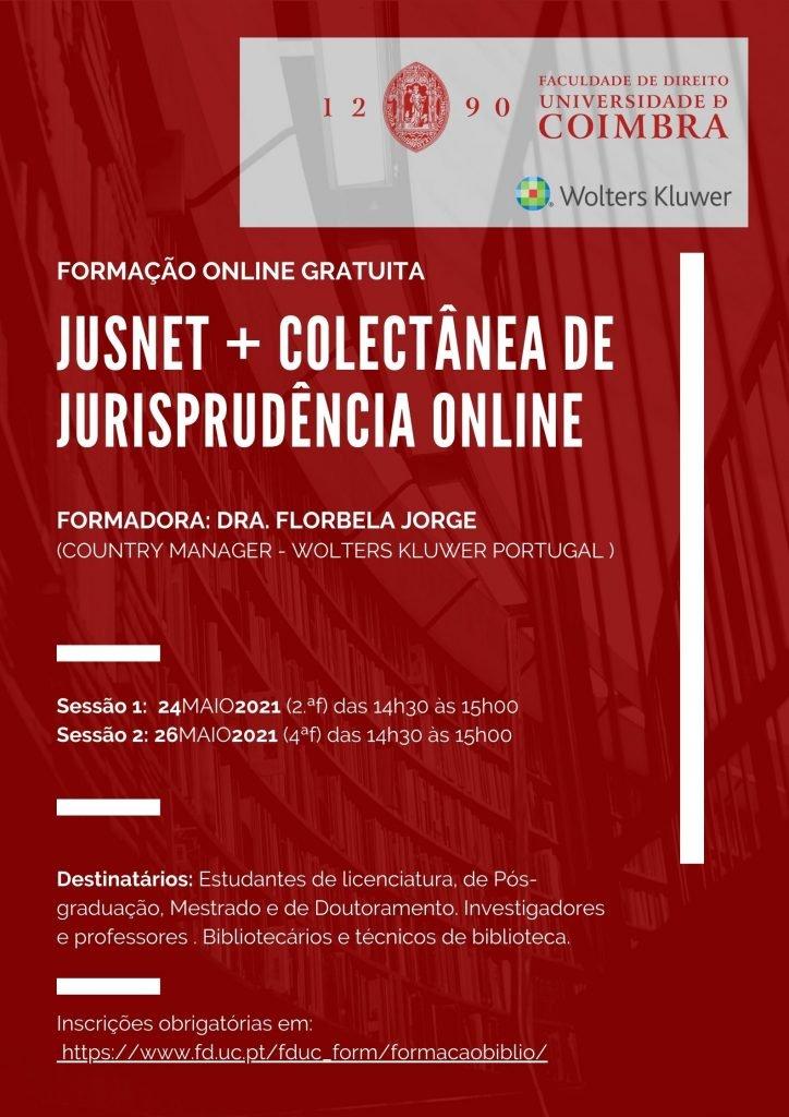 Formação OnLine Gratuita – JUSNET + COLECTÂNEA DE JURISPRUDÊNCIA ONLINE