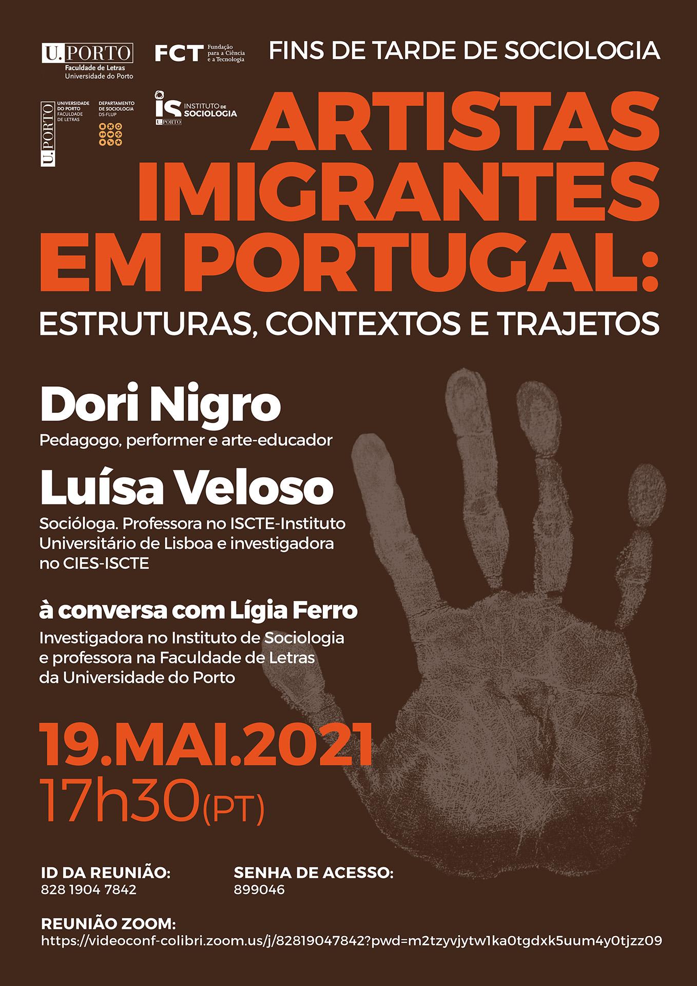 Fins de Tarde de Sociologia: Artistas Imigrantes em Portugal
