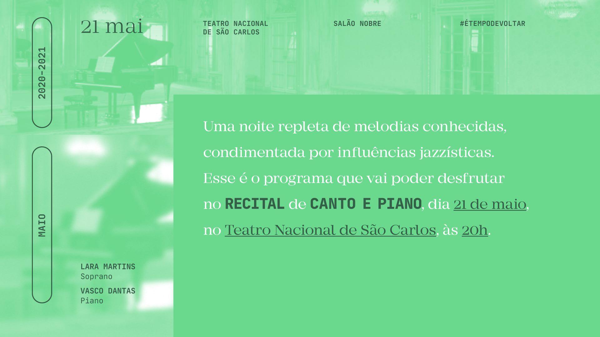 Recital de Canto e Piano