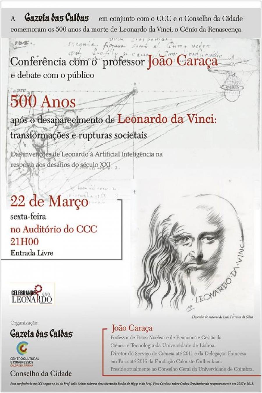 Conferência sobre os 500 anos após do desaparecimento de Leonardo da Vinci: transformações e rupturas sociais