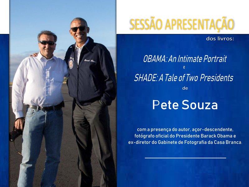 Apresentação dos livros OBAMA: An Intimate Portrait e SHADE: A Tale of Two Presidents, de Pete Souza