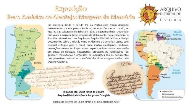 """Exposição """"Ibero América no Alentejo: Margens da Memória"""""""