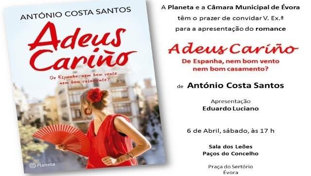 Apresentação do Romance 'Adeus Cariño' de António Costa Santos