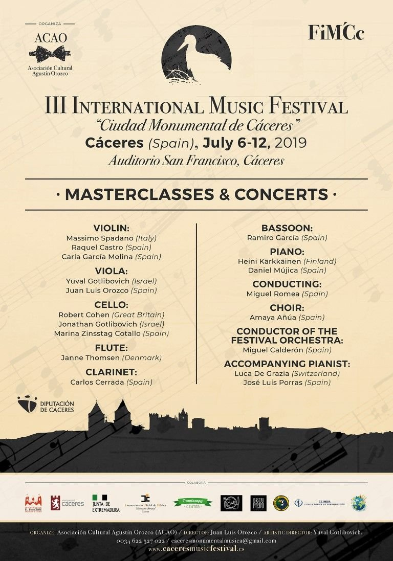 III Festival internacional de música «Ciudad Monumental de Cáceres»